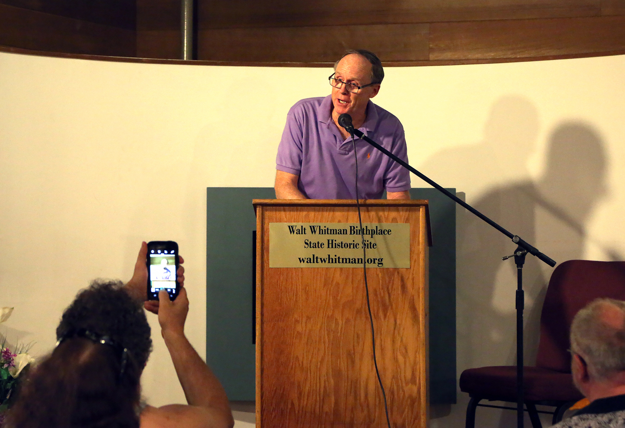 Michael McCarthy Reading Poetry at Walt Whitman Birthplace